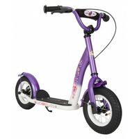 """Hulajnogi, Hulajnoga dla dzieci pompowane koła 10"""" BikeStar kolor liliowo-biały"""