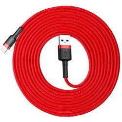 Baseus Cafule Cable wytrzymały nylonowy kabel przewód USB / Lightning QC3.0 2A 3M czerwony (CALKLF-R09) - Czerwony