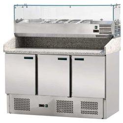 Stół chłodniczy do pizzy 3 drzwiowy z nadstawą chłodniczą STALGAST 843032