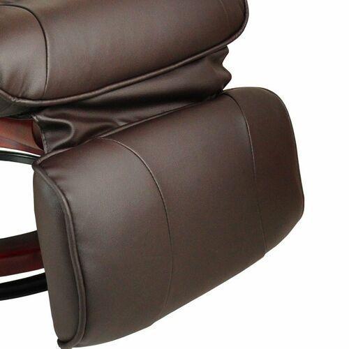 Fotele masujące, FOTEL MASUJĄCY WYPOCZYNKOWY BIUROWY MASAŻ GRZANIE - Brązowy 4400018 (-21%)