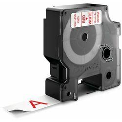 Dymo taśma do drukarek etykiet 45805, S0720850, czerwony druk/biały podkład, 7m, 19mm, D1