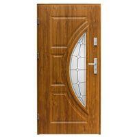 Drzwi zewnętrzne, Drzwi zewnętrzne przeszklone Splendoor Szmaragd 90 lewe dąb złoty