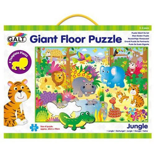 Puzzle, Velké podlahové puzzle – zvířátka v džungli neuveden
