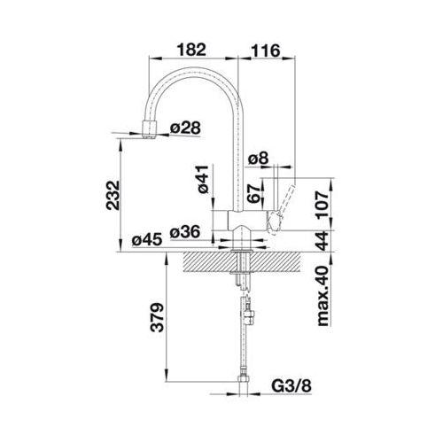 Baterie do kuchni, Bateria Blanco Filo 514943