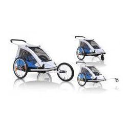 Przyczepka rowerowa dla dzieci XLC BS C03 DUO2, 3w1 wózek buggy + jogger niebieska