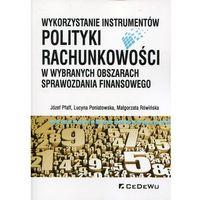 Biblioteka biznesu, Wykorzystanie instrumentów polityki rachunkowości - bezpłatny odbiór zamówień w Krakowie (płatność gotówką lub kartą).