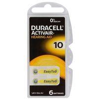 Baterie, 6 x baterie do aparatów słuchowych Duracell ActivAir 10 MF