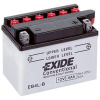 Akumulatory do motocykli, Akumulator motocyklowy EXIDE EB4L-B / YB4L-B 12V 4A 50EN P+