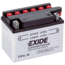 Akumulator motocyklowy EXIDE EB4L-B / YB4L-B 12V 4Ah 50A EN P+