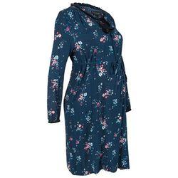 Sukienka ciążowa i do karmienia bonprix ciemnoniebieski w kwiaty