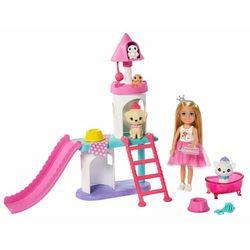Mattel Barbie Princess Adventure Księżniczka Chelsea Zestaw do zabawy ze zjeżdżalnią