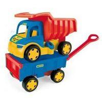 Wywrotki dla dzieci, Gigant Truck Wywrotka z Przyczepą WADER 65100 #A1