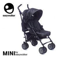 Wózki spacerowe, MINI by Easywalker Wózek spacerowy z osłonką przeciwdeszczową XL Midnight Jack