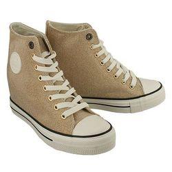 BIG STAR W274676 złoty, trampki, sneakersy damskie - Złoty