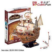Puzzle, Cubic Fun, Żaglowiec Santa Maria, puzzle 3D, 38 elementów