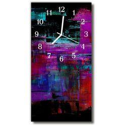Zegar Szklany Pionowy Sztuka Nadruk malowany kolorowy