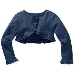 Bolerko shirtowe dziewczęce bonprix kobaltowy