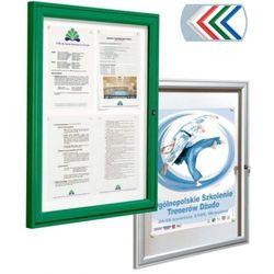 Gablota Reference jednodrzwiowa, 2xA4, rama aluminiowa malowana, głębokość 30mm