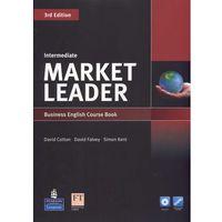 Książki do nauki języka, Market Leader 3rd Edition Intermediate, Coursebook (podręcznik) plus DVD-ROM (opr. miękka)