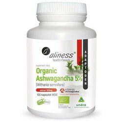 Organiczna ashwagandha 5% Organic ashwagandha Withania somnifera KSM-66 100 kapsułek Aliness