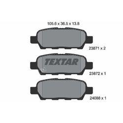 TEXTAR - Zestaw klocków hamulcowych, hamulce tarczowe