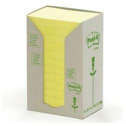 POST-IT Bloczek ekologiczny TOWER, 38 x 51mm, żółty pastel, 24 sztuki po 100 kartek