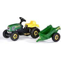 Traktory dla dzieci, Rolly Toys Traktor Rolly Kid Landini, zielony z przyczepką - BEZPŁATNY ODBIÓR: WROCŁAW!