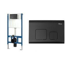 Stelaż podtynkowy wc zestaw z przyciskiem F Black Rea