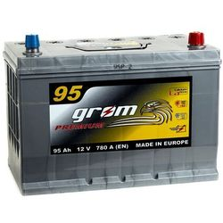 Akumulator GROM Premium 95Ah 780A Japan Prawy plus