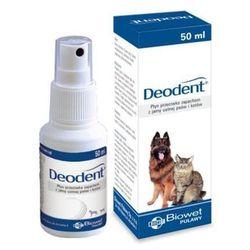 BIOWET Deodent - płyn przeciwko nieprzyjemnym zapachom z jamy ustnej psów i kotów 50ml