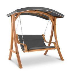 Blumfeldt Tahiti Huśtawka typu Hollywood dach przeciwsłoneczny 110 cm 2-osobowy lite drewno szary