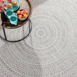 Dekoria Dywan Breeze Circles wool/cliff grey 160x230cm, 160 × 230 cm