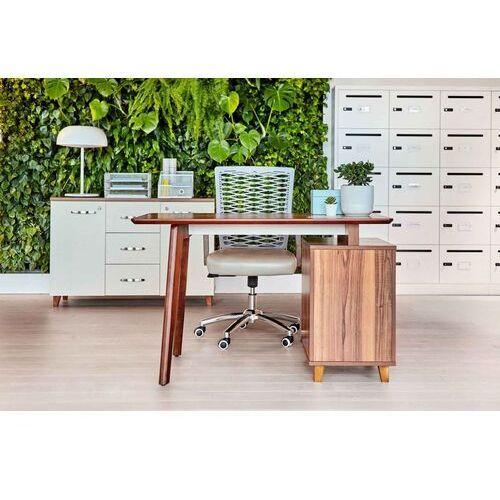 Biurka i stoliki, Nowoczesne biurko z kontenerem EVOLUTIO TB-0F 120 cm