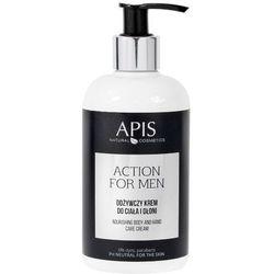 APIS Action for Men - Odżywczy krem do ciała i dłoni 300ml