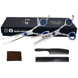 """Zestaw nożyczki + degażówki 6,0"""" fryzjerskie Stoni Blue"""