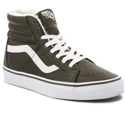 Sneakersy VANS - Sk8-Hi Reissue VN0A2XSBUCH1 (Leather/Fleece) Olive Ni
