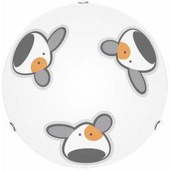 Lampa dla dziecka Piesek - plafon Doggy biały/ chrom LED 15W 40cm