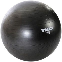 Piłka gimnastyczna TKO 122FBP-BK-75 Czarny