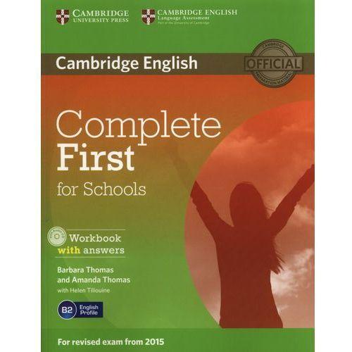 Książki do nauki języka, Complete First for Schools 2nd Edition. Ćwiczenia z Kluczem + CD (opr. miękka)