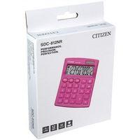 Kalkulatory, Kalkulator biurowy CITIZEN SDC-812NRPKE, 12-cyfrowy, 127x105mm, różowy