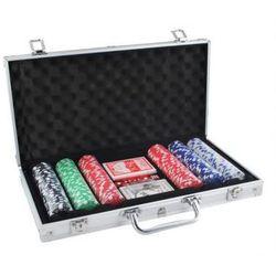 Zestaw do Pokera...: 300 Żetonów + Kości + Karty + Kuferek...