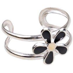 Pierścionek na palec u stopy Kwiat czarny
