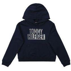 TOMMY HILFIGER Bluza 'ESSENTIAL LOGO HOODIE' czarny / srebrny