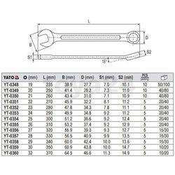 Klucz płasko-oczkowy z polerowaną główką 27 mm Yato YT-0356 - ZYSKAJ RABAT 30 ZŁ