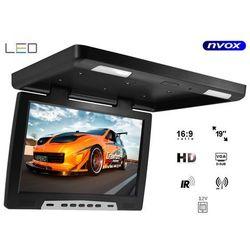 """NVOX RF1908 Monitor podwieszany podsufitowy LCD 19"""" cali LED FM IR VGA"""