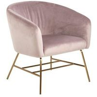 Fotele, Fotel Ramsey VIC dusty rose/gold