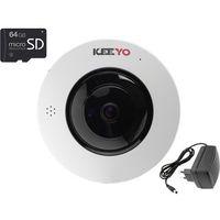 Kamery przemysłowe, Kamera IP bezprzewodowa KEEYO LV-IP4M2FE-SD64 4Mpx IR 25m z kartą pamięci microSD 64GB