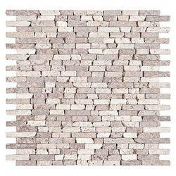 DUNIN Mozaika kamienna Travertine SPLIT mix 30,5 x 30,5 cm