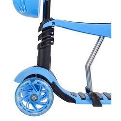 Trójkołowa hulajnoga, deskorolka, jeździk 3w1 HLB08 Nils Extreme - niebieski