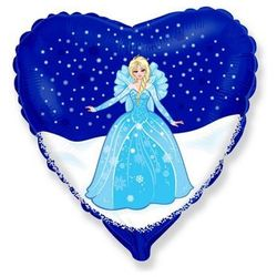 Balon foliowy serce Elsa Frozen - Kraina Lodu - 47 cm - 1 szt.